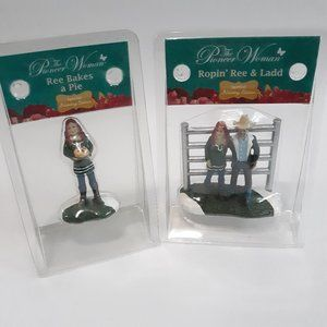 NEW Pioneer Woman Christmas village figurines x2